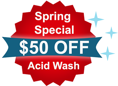 special acid cleaning for pools